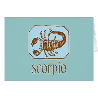 Antiker blauer Skorpion Karte