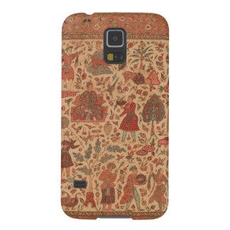 Antiker Indien-Textiltelefon-Kasten Samsung S5 Hüllen