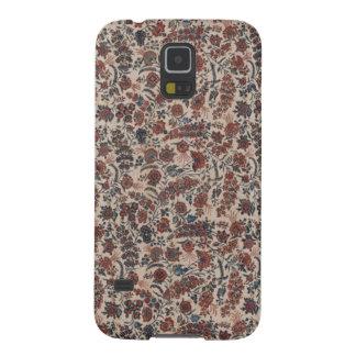 Antiker Indienblumentextiltelefon-Kasten Samsung Galaxy S5 Hülle