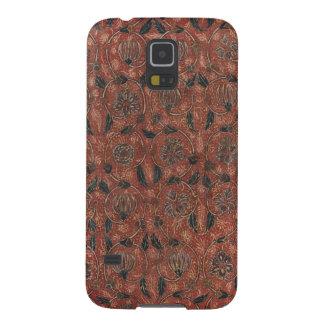 Antiker Indienblumentextiltelefon-Kasten Samsung Galaxy S5 Hüllen