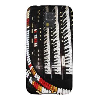 Antiker Kasten Organ-Tastatur-Samsung-Galaxie-S5 Galaxy S5 Hülle