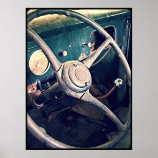 Antiker klassischer Armaturenbrett des Auto-1939 Poster