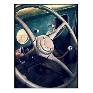 Antiker klassischer Armaturenbrett des Auto-1939 Postkarte