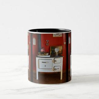 Antiker Ofen und mehr Antiken Zwei-Ton Tasse