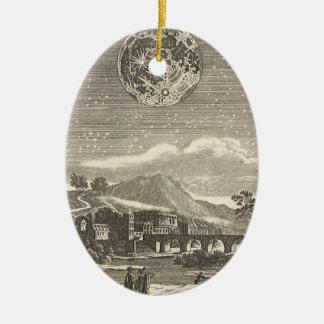 Antiker Renaissance-Mond durch Allain Holzhammer Ovales Keramik Ornament