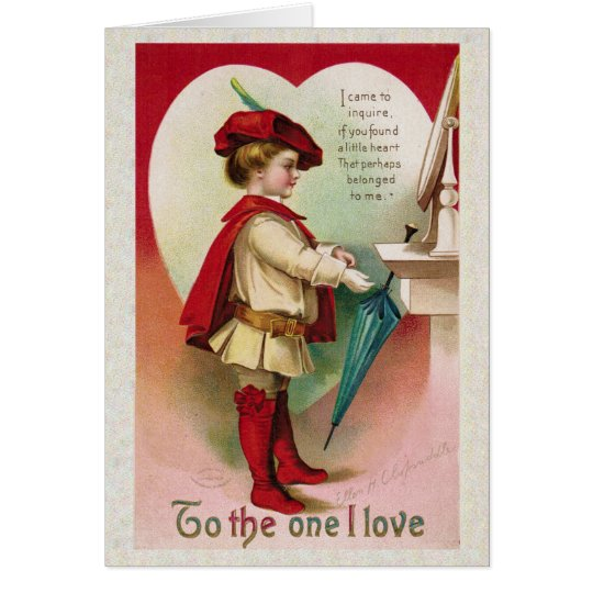 """Antiker Valentine """"zur einer i-Liebe """" Karte"""