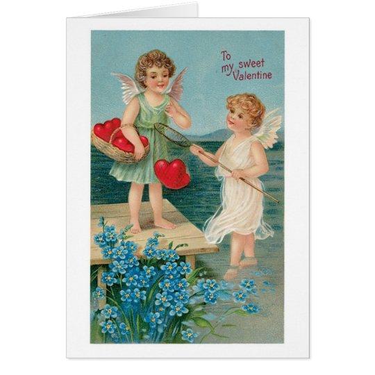 Antiker Valentinsgruß Grußkarte