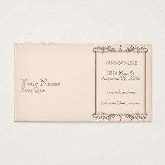 Antikes altes Papier Visitenkarte