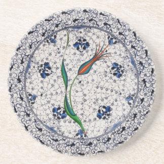 Antikes Art Osmaneporzellan Sandstein Untersetzer