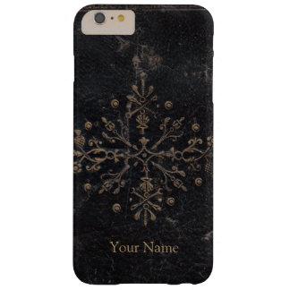 Antikes Goldblatt-Lilien-Leder Barely There iPhone 6 Plus Hülle