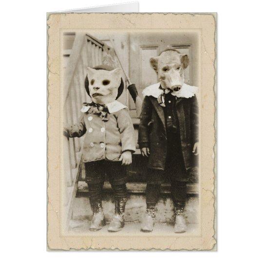 Antikes Halloween   ~Edgar Allan Poe Karte