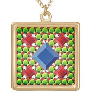 Antikes Juwel-Mosaik Vergoldete Kette