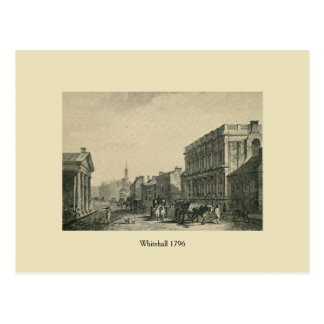 Antikes London Whitehall 1796 Postkarte