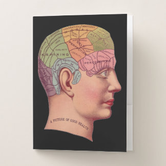 Antikes Phrenologiekopf Plakat Bewerbungsmappe