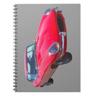 Antikes Sport-Auto 1964 Rot-Jaguars XKE Notizblock