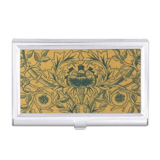 Antikes viktorianisches Blumenmuster Williams Visitenkarten Etui