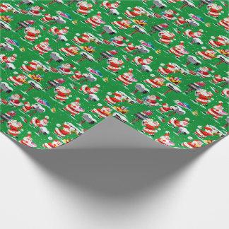 Antikes Weihnachtsmann-WeihnachtsPackpapier Einpackpapier