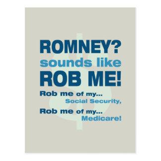 """AntiRomney """"Romney klingt wie Rob mich!"""" Politisch Postkarten"""