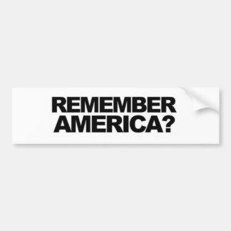 """ANTIterrorismus """"""""ERINNERN Sie SICH AN AMERIKA-"""" Autoaufkleber"""