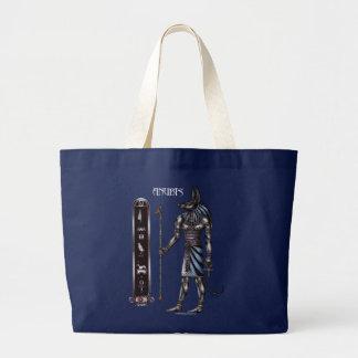 Anubis Dunkelheits-Taschen Jumbo Stoffbeutel