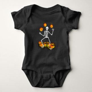 Anzug Halloween-Babys eins mit dem Skelett Baby Strampler