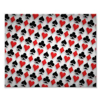 Anzugs-Spaten-Herz-Verein-Diamant-Hintergrund Photo Drucke