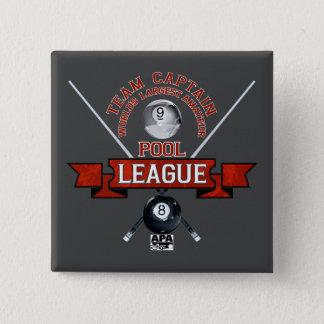APA Team-Kapitän Quadratischer Button 5,1 Cm
