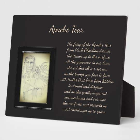 Apache-Riss-Kristall-Fee Fotoplatte