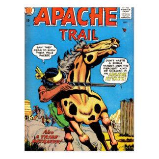 Apache-Spur #1 Postkarte
