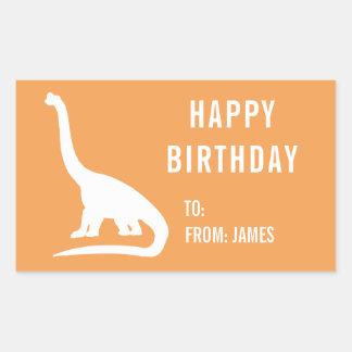 Apatosaurus-Dinosaurier personifizieren Rechteckiger Aufkleber