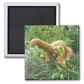 Apatosaurus-Kühlschrankmagnet Quadratischer Magnet