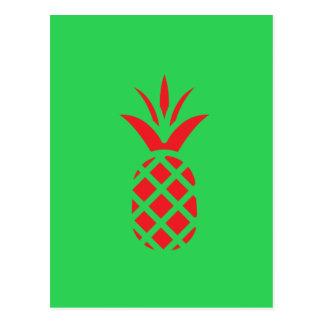 Apfel der roten Kiefer im Grün Postkarte