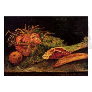 Äpfel, Fleisch und eine Rolle durch Van Gogh Karte