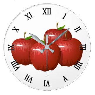 Äpfel Große Wanduhr