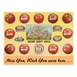 Äpfel Ohios, Jackson County Postkarte