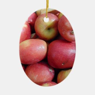 Äpfel Ovales Keramik Ornament