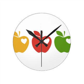 Äpfel Runde Wanduhr