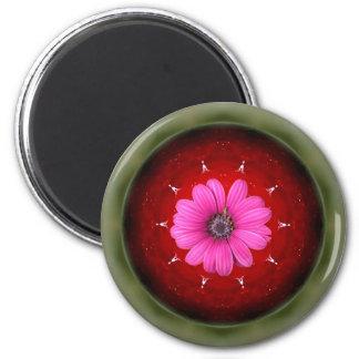 Apfel und Gänseblümchen - Collage Runder Magnet 5,1 Cm