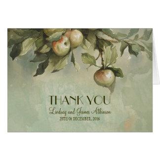 Apfelbaum-Hochzeit danken Ihnen Karten