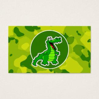 Apfelgrüne Camouflage; Alligator, Alligator Visitenkarte