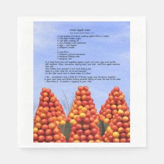 Apfelkuchen-Rezept-Papierserviette Serviette