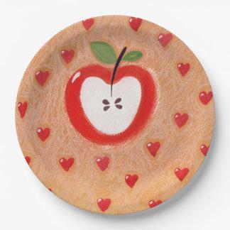 Apfelkuchenplatte Pappteller 22,9 Cm