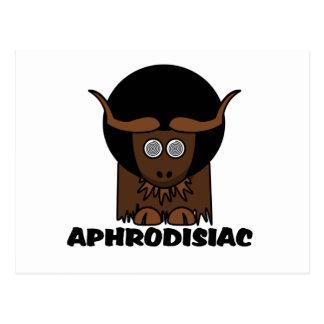 Aphrodisiaclustiger Afro-schwindlige Yak Postkarte