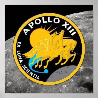 Apollo 13 die NASA-Auftrag-Flecken-Logo Poster