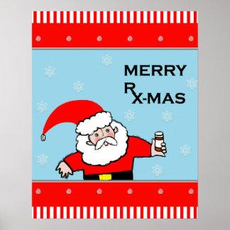 Apotheke Weihnachtsdekor Poster