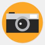 appareil-photo adhésifs ronds