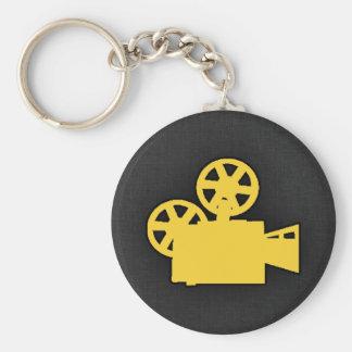 Appareil-photo de film ambre jaune porte-clé rond