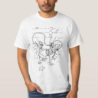Appareillage canin de plongée à l'air t-shirt