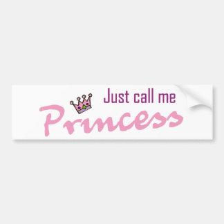 Appelez-juste moi princesse autocollant de voiture