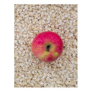 Apple auf Hafermehl Postkarte